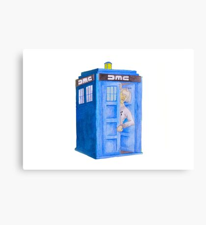 Doc and his Tardis Canvas Print