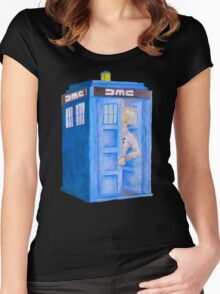 Doc and his Tardis Women's Fitted Scoop T-Shirt