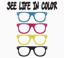 See live in color - CMYK Glasses Baby Tee