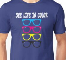 See life in color - CMYK glasses Unisex T-Shirt