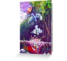 kingfisher in flight Greeting Card