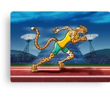 Olympic Runner Cheetah Canvas Print