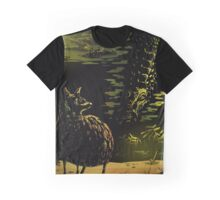 Mouse Deer and Crocodile Graphic T-Shirt