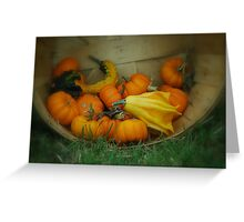 Fall Vegetables  Greeting Card