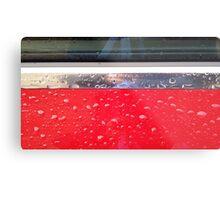 Wet red metal Metal Print