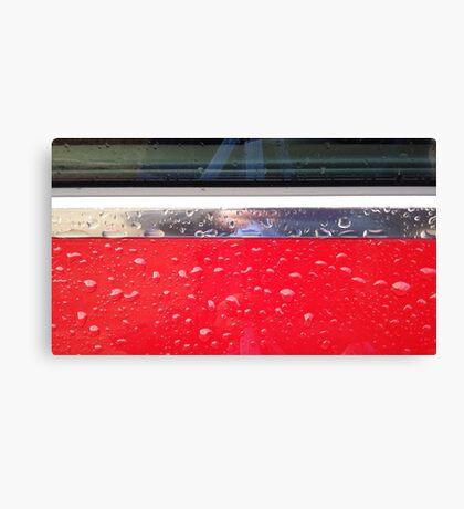 Wet red metal Canvas Print