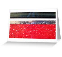 Wet red metal Greeting Card