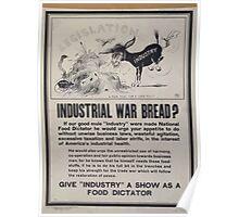 Industrial war bread 002 Poster