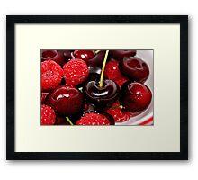 Cherries in the Raspberries Framed Print