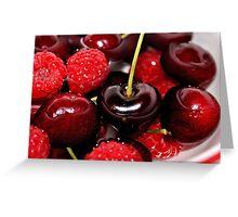 Cherries in the Raspberries Greeting Card