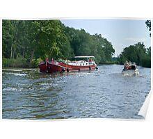 Dutch barge approaching Mapledurham lock  Poster