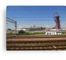 See the Olympics by train! Canvas Print