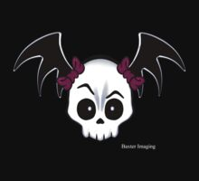 Cutie Skull With Bat Wings by Baxter  Imaging