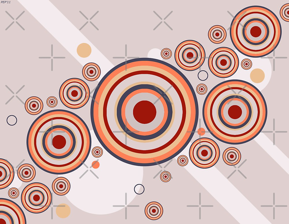 Rings of Color Abstract Graphic by Phil Perkins