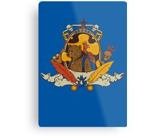 Bear & Bird Crest Metal Print