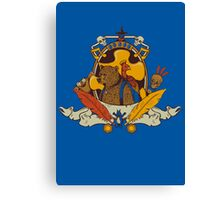 Bear & Bird Crest Canvas Print