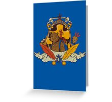 Bear & Bird Crest Greeting Card