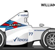 WILLIAMS MERCEDES FW 37 _ 2015 Sticker