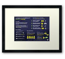 Purim explained: A Jewish holiday infographic Framed Print