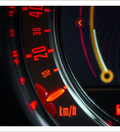 Elegant speed control dashboard by modern sport car Sticker