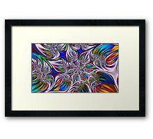 Rainbow Star Spiral Framed Print