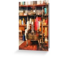 Supplies in Tailor Shop Greeting Card
