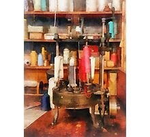 Supplies in Tailor Shop Photographic Print