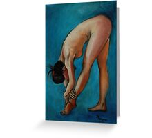 Blue Dancer Greeting Card