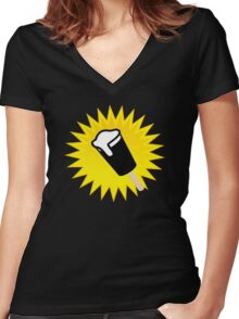 Beer Lolly Women's Fitted V-Neck T-Shirt