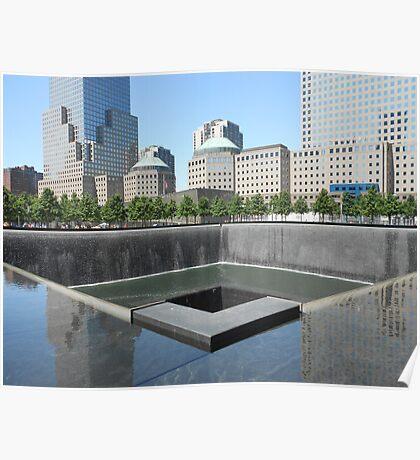North Tower memorial pool Poster
