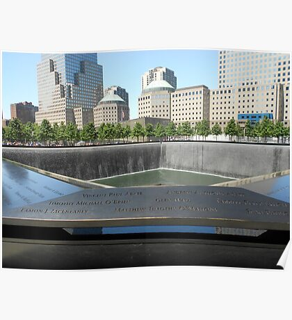 View across the North Tower Memorial Pool Poster