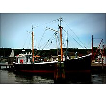 Ship in Port Photographic Print