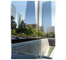 Freedom Tower and South Tower Memorial Pool Poster