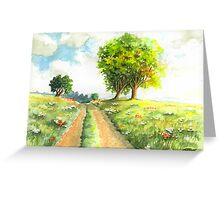 LANDSCAPE WITH COUNTRY ROAD Greeting Card