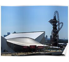 London Olympic buildings, Stratford July 2012 Poster