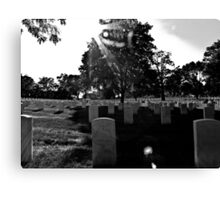 Military Graves Canvas Print