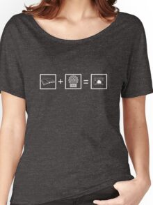 Castle Math- White Women's Relaxed Fit T-Shirt