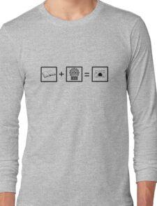 Castle Math- Black Long Sleeve T-Shirt