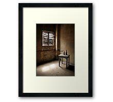 Cobwebs at the Window Framed Print