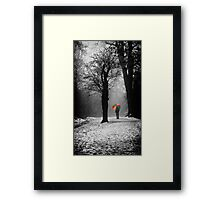 A Lonely Winters Walk Framed Print