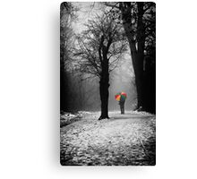 A Lonely Winters Walk Canvas Print