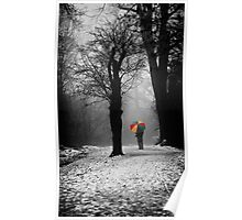 A Lonely Winters Walk Poster