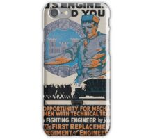 The US Engineers need you 002 iPhone Case/Skin