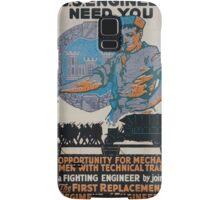 The US Engineers need you 002 Samsung Galaxy Case/Skin