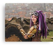 Purple Hair Canvas Print