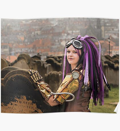 Purple Hair Poster