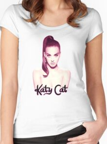 KATY CAT <3 Women's Fitted Scoop T-Shirt