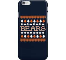 Chicago Bears Ugly Christmas Costume. iPhone Case/Skin