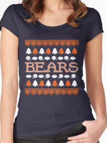 Chicago Bears Ugly Christmas Costume. Women's Fitted Scoop T-Shirt