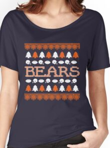 Chicago Bears Ugly Christmas Costume. Women's Relaxed Fit T-Shirt
